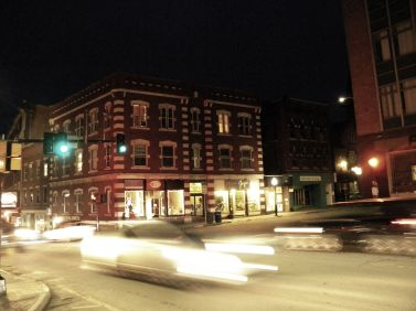 Artistic rendition of a view from downtown Brattleboro, Vermont. By Maynard Modern Media.