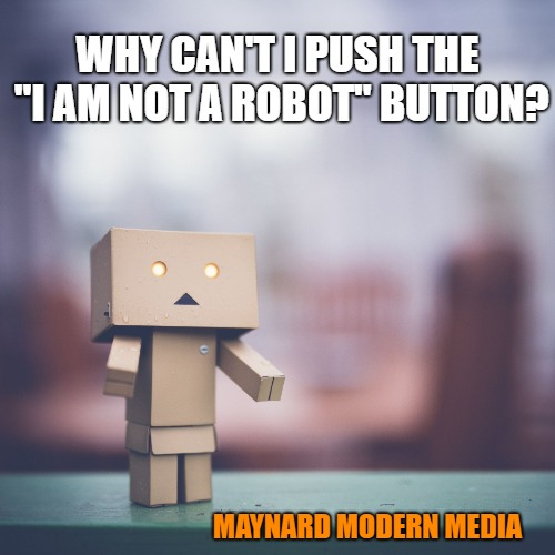I am Not a Robot Button meme