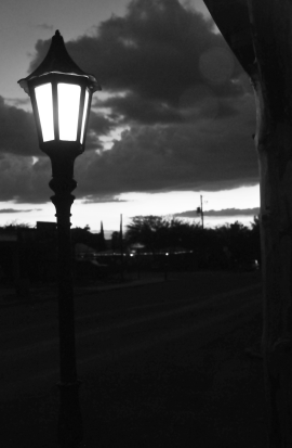 tombstone lamp bw